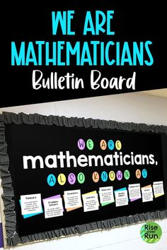 Love this math classroom decor! Help students see themselves as mathematicians by telling them what being a mathematician is all about! Easy to create and it looks great! Math Classroom Decorations, Science Classroom, Classroom Ideas, Math Teacher, Teaching Math, Teacher Stuff, Teaching Ideas, 7th Grade Math, Ninth Grade