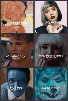 The signs as Melanie Martinez characters (1/2)