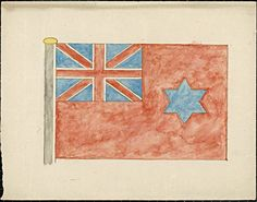 Flag design by A Downer. This proposed flag was one of three designed in 1901 by another 14-year-old boy, A Downer of Sydney. Unfortunately, his designs were not considered as they arrived after the competition closed.