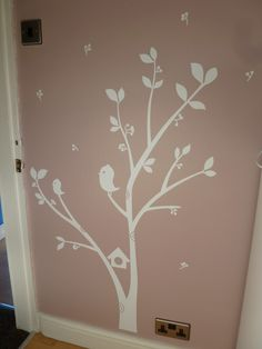 White Nursery Wall Sticker, Birds in Trees | Leannes Blog Place
