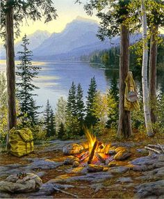 Darrell Bush - Room With a View  It reminds me of Fallen Leaf Lake!