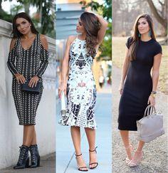 Saiba mais sobre o comprimento queridinho da vez e confira dicas para criar looks certeiros para diferentes ocasiões com o vestido midi.