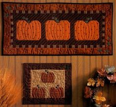 Country Pumpkin Patch Quilted Wall Hanging Pattern  by Retta Warehime