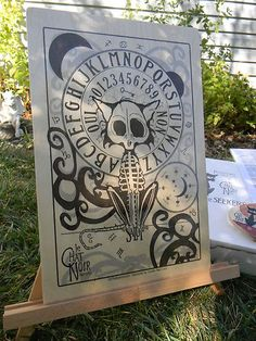 Le Chat Noir Board. Spirit board. Love! Do not know if this is a poster as link is eBay and item does not come up. Hate when that happens!