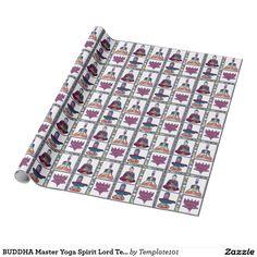 BUDDHA Master Yoga Spirit Lord Teacher Meditation Wrapping Paper