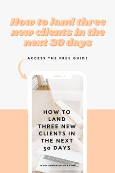 A guide outlining the three simple steps you can take today to land your first client or your next client FAST. Business Coaching, Business Tips, Online Business, Work From Home Jobs, Make Money From Home, How To Make Money, Small Business Help, Creative Business, How To Get Clients