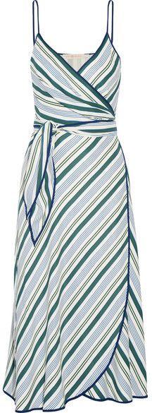 Tory Burch - Villa Striped Satin-twill Wrap Dress - Blue  https://api.shopstyle.com/action/apiVisitRetailer?id=621895202&pid=uid2500-37484350-28