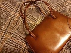 Vintage handbag in bronze