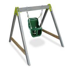 Vauvakeinu - Vihreä Exit aksent on sisä ja ulkokäyttöön tarkoitettu vauvakeinu Rollers, Watering Can, Wardrobe Rack, Ladder, Canning, Crafts, Home Decor, Sport, Woodwind Instrument