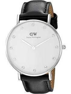 Daniel Wellington Women's 0961DW Classy Sheffield Analog Display Quartz Black Watch ❤ Daniel Wellington