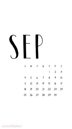 Black and white script September calendar 2016 wallpaper you can download for free on the blog! For any device; mobile, desktop, iphone, android!