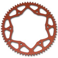 WMS Traditional Tooth kart racing sprocket. 6061 CNC machined aluminum. Red anodizing.