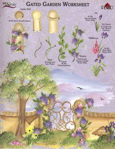Gated Garden RTG Worksheet for Binder Donna Dewberry   eBay