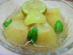 Egy kicsi bors - és a családi tűzhely: Mentás-lime-os almakompót