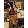 Brown/Black Area Rug (7'8 x 10'10) | Overstock.com Shopping - The Best Deals on 7x9 - 10x14 Rugs