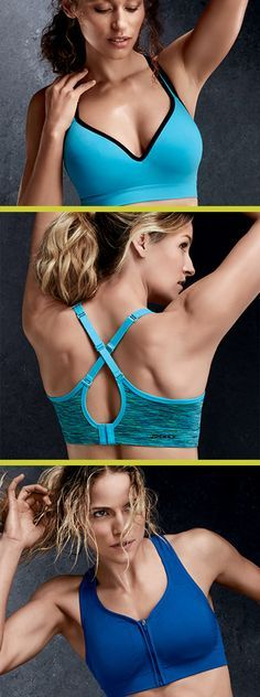 Sport bras that give support for any sport! Sweat-wicking material to keep you comfortable and dry. 3 for $75