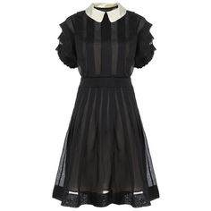 Marc by Marc Jacobs Anastasia Organza Dress ($690) ❤ liked on Polyvore featuring dresses, vestidos, pleated dress, slip dress, short sleeve dress, short-sleeve dresses and marc by marc jacobs dress