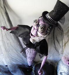 Victorian Phantom Undertaker Art Doll OOAK by PoorLittleLamb, $45.00