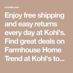 Enjoy free shipping and easy returns every day at Kohl's. Find great deals on Farmhouse Home Trend at Kohl's today! Cottage Chic Living Room, Black Nails With Glitter, Essie Nail Colors, Nails For Kids, Bohemian Bedding, Sonoma Goods For Life, Home Trends, Elizabeth And James, Kohls