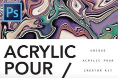 Acrylic Pour Creator for Photoshop by Drifter Studio PrintShop on @creativemarket