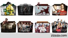 Icon set - TV Series Folder - Zizaza item for free