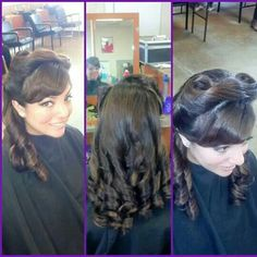Victory roll hairstyle