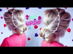 EASY HAIRSTYLE QUICK ELEGANT WATERFALL BRAID BUN UPDO | Awesome Hairstyles