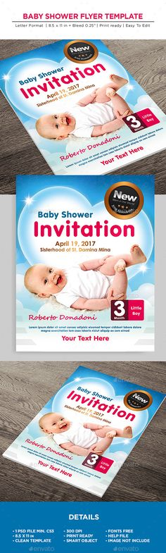 Buy Baby Shower Flyer - Invitation Flyer by on GraphicRiver. Baby Shower Flyer – Invitation Flyer All elements beside the image are fully editable CMYK – print ready Letter: Birthday Breakfast For Husband, Birthday For Him, Happy Birthday, Birthday Quotes For Girlfriend, Birthday Card Sayings, Invitation Flyer, Baby Shower Invitations, Free Psd Flyer Templates, Poster Design Inspiration
