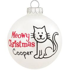 Personalized Meowy Christmas Cat Ornament