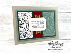 Create with Connie and Mary Saturday Blog Hop - Christmas in July - Libby Fens, Stampin' Up! Demonstrator Stampin Up Christmas, Christmas Cards To Make, Christmas In July, Christmas Greetings, One Sheet Wonder, Beautiful Gifts, Diy Projects To Try, Stampin Up Cards, Card Stock