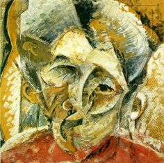 Boccioni, Umberto Dynamism of a Woman's Head 1914 Pasted papers, watercolor, gouache, ink, and oil on canvas Civico Museo d'Arte Contemporanea, Palazzo Reale, Milan