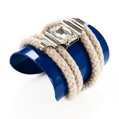 Rope Highlight Cuff by nOir Jewelry