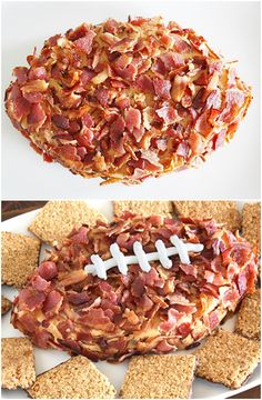Peanut Butter-Bacon #Football Dip... With a cream cheese dip instead