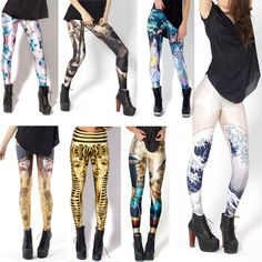 "HOT! SEXY! GL-05 Leggings Fashion 2013 ""BLACK Milk"" Leggings OEM Digital Print pants THE GREAT WAVE LEGGINGS Free Shipping $9.98"