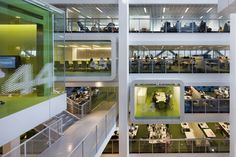 One Shelley Street, workplace design that leverages mobility, transparency, multiple tailor-made work settings, destination work plazas, follow-me technology, and carbon neutral systems. The result is part space station, part cathedral, and part vertical Greek village. The 21st Century office?