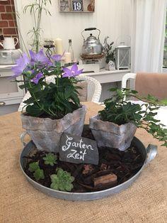 Garten Zeit / Tischdeko