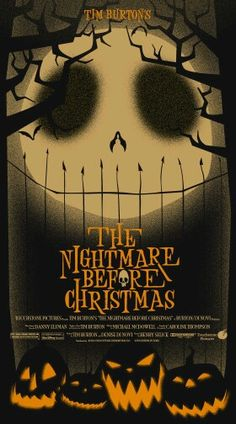 """La Pesadilla Antes de Navidad  (traducción estúpida """"El extraño mundo de Jack"""" )"""