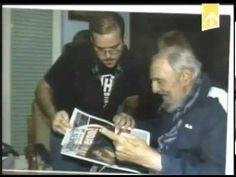 Encuentro de Fidel Castro con el presidente de la FEU de la Universidad ...