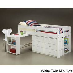 Napoli Low Loft Twin Bed with 6-drawer Storage/ Bookshelves/ Desk | Overstock.com Shopping - Great Deals on Kids' Beds