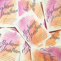 Portland Oregon Themed Letterpress Wedding Invitations