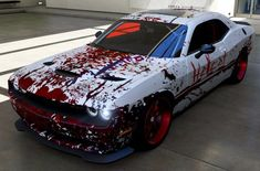 dodge challenger forza motorsport blood aerography / paint work