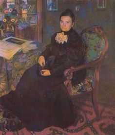 Painter, graphic artist and stage designer, Борис Михайлович Кустодиев was a pupil of the classical Russian painter Ilya Repin. While studying at the Astrakhan Theological School, he was impressed in 1887 by an exhibition of the russian realist painters, the Wanderers, and he subsequently decided to become a painter.