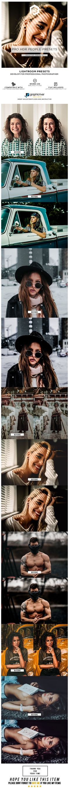 Buy 30 Pro HDR People Presets by Lumixdesign on GraphicRiver. 30 Pro HDR People Presets Lightroom Presets is very easy to utilize.
