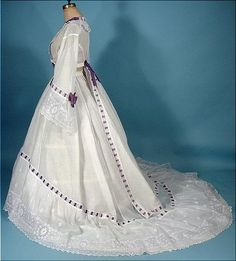 It's easy too picture a charming Southern belle wearing this amazing Civil War trained linen gown from 1860. Of course, this would require proper undergarment. Besides its obvious loveliness through,...