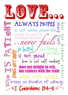 1 Corinthians 13 what the Love of God is and how it manifests through His people by the power of the Holy Spirit. His love should not be confused with lust. Lust is not love. Lust is of the flesh but this kind of love is of God for God is love. My Funny Valentine, Valentines, Valentine Ideas, Bible Quotes, Me Quotes, Bible Verses, Scriptures, Great Quotes, Inspirational Quotes