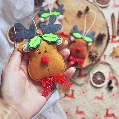 Felt reindeer christmas ornament fun stocking stuffers ideas