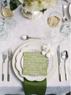 green, wedding, table