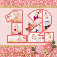Digital Scrapbook Layout   Kit Used: Sweet & Sassy Baby Girl by Ladybug Scraps Template Used: Count on Me Number 12 by Ladybug Scraps http://www.scraps-n-pieces.com/store/index.php?main_page=index&manufacturers_id=21&sort=20a&viewAll=true #scrapbooking101