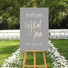 Printable Wedding Welcome Sign Rosegold DIGITAL by P27Creative