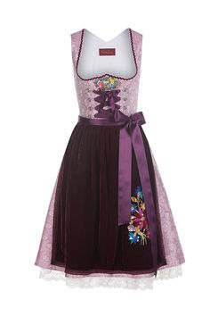 Dirndl Lola Paltinger Daphne in lilac, buy costumes including apron at Angermaier online